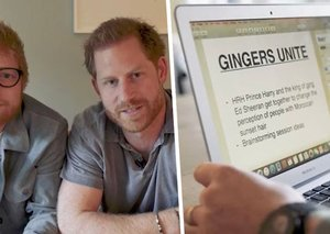 Ed Sheeran and Prince Harry make fun of gingers in new video