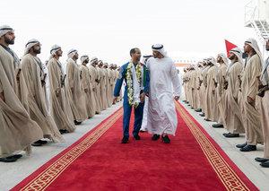 Hazza Al Mansouri returns home to the UAE