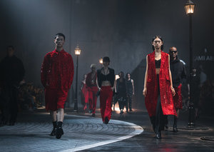 Ami hosted its first fashion show outside of France