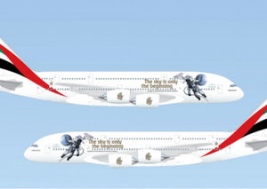 Hazza Al Mansouri celebrated with special Emirates Airbus A380