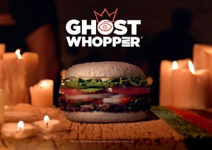 Burger King hires ghost medium to promote new Halloween whopper