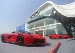 Ferrari's biggest showroom opens in Dubai