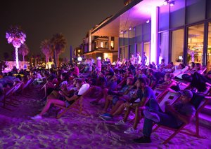 The Great Gatsby is playing at Dubai's cinema on the beach