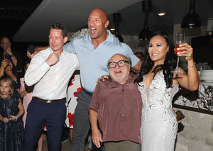 Dwayne Johnson and Danny DeVito crashed a wedding