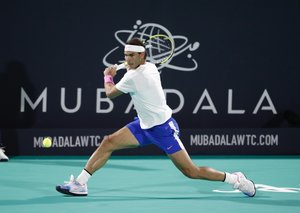 Nadal wins fifth Mubadala World Tennis Championship title with victory over Tsitsipas