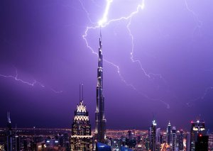 Some of the best photos from the weekend thunderstorm in Dubai