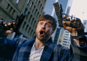 Daniel Radcliffe has guns for hands in new film: Guns Akimbo