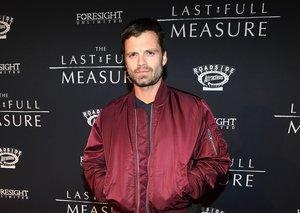 Sebastian Stan is bringing back the bomber jacket