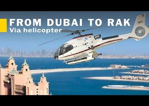 Flying from Dubai to RAK in a Helicopter