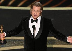 Brad Pitt killed his first Oscars acceptance speech