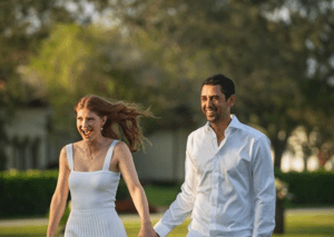 Jennifer Gates and her Egyptian fiancé Nayel Nassar share engagement party pictures