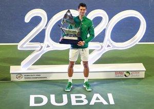 Novak Djokovic won his fifth Dubai Open title this weekend