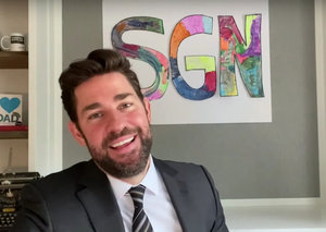 """John Krasinski has launched a """"good news"""" vlog. And it is brilliant"""