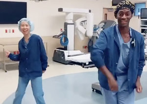 This doctor treating Covid-19 patients uses viral dance videos on TikTok to make people smile