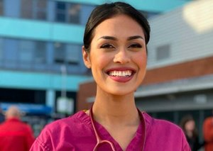 Miss England returns to work as doctor in coronavirus fight