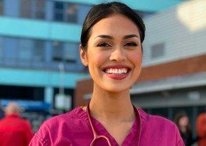 Miss England returns to work as doctor in coronavirus fight