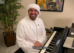 Emirati singer Hussain Al Jassmi takes part in Lady Gaga's 'One World' concert