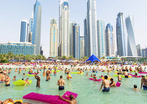 Dubai's popular beach club has reopened today