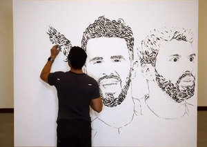 UAE artist produces calligraphy artwork of Manchester City stars