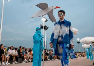 Louis Vuitton merge puppets with clothing for its men's SS21 show