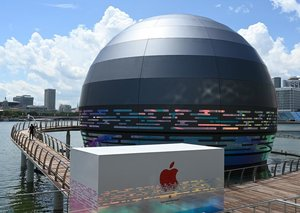 Singapore's floating Apple Store looks like the death star