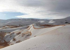 Snow falls in Saudi Arabia for the first time in 50 years