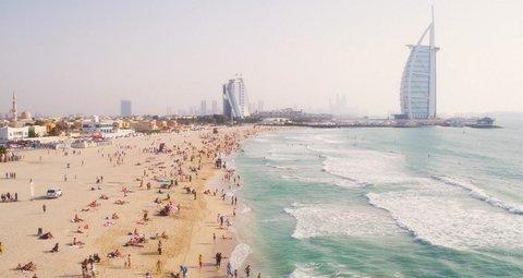 Dubai beachgoers fined for failing to follow social distancing rules