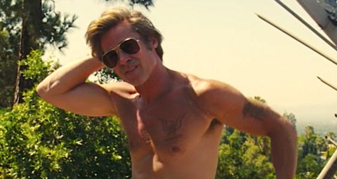 Don't tell Brad Pitt how to take off his shirt