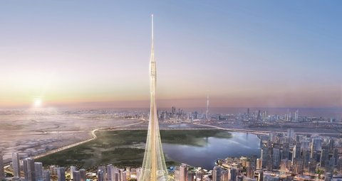 Work reportedly halts on what will be the World's tallest building in Dubai because of coronavirus