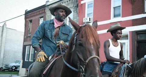 Idris Elba films his new film 'Concrete Cowboys'