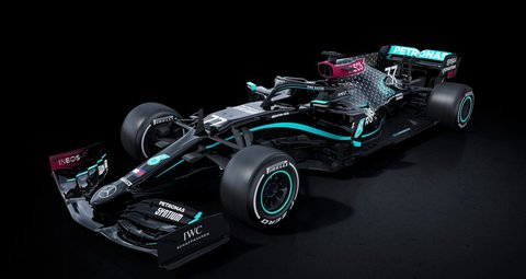 Mercedes F1 team launch an all-black livery with anti-racism message