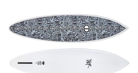 Dior and Shawn Stussy collaborate on limited edition surfboard