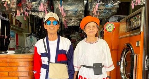 These laundry-modelling grandparents are an Instagram sensation