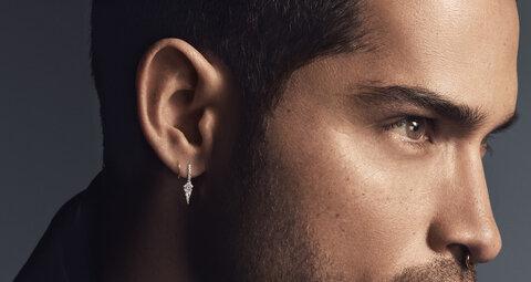 The male earring is back. Embrace it.