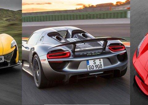 VIDEO: Three Hybrid Supercars Race