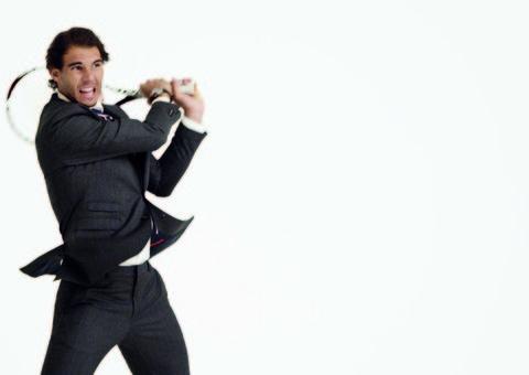 Rafa Nadal suits up