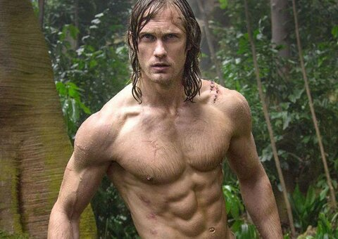 You too can get those Alexander Skarsgård Tarzan abs