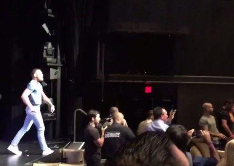Conor McGregor-Nate Diaz press conference (predictably) ends in chaos