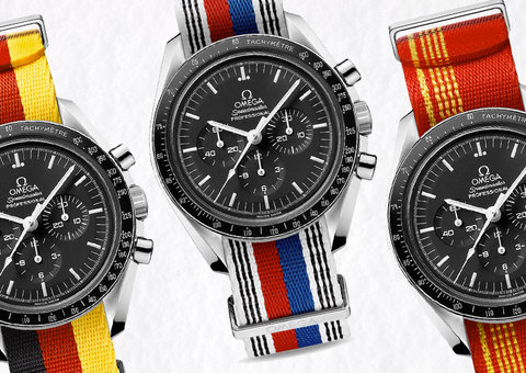 Check out Omega's cool new Olympic-caliber NATO straps