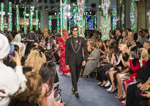 Menswear dominates the Dolce&Gabbana fashion show in Dubai Mall