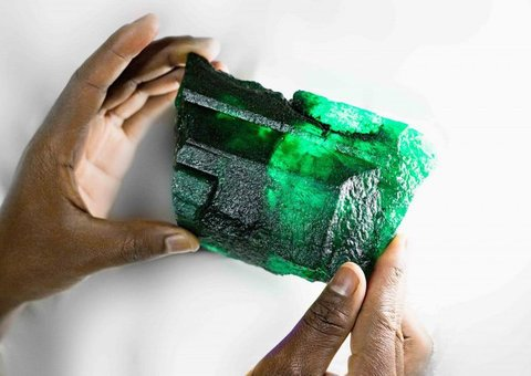 Check out this 5,655-carat emerald they just found in Zambia