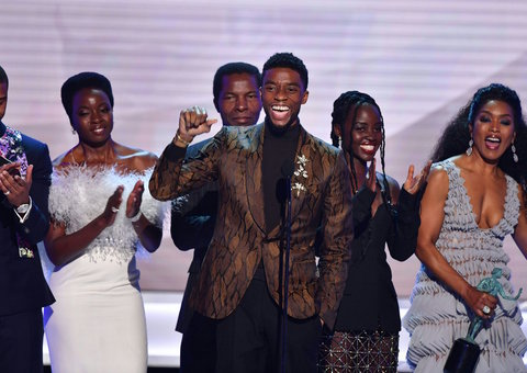 Black Panther's Chadwick Boseman delivers powerful speech after SAG award win