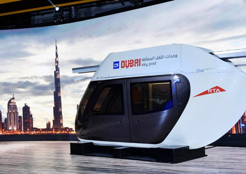 Into the future: You can soon travel around Dubai in a 'sky-pod'
