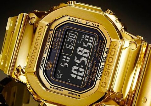 Casio reveals its most expensive 18-carat yellow gold watch