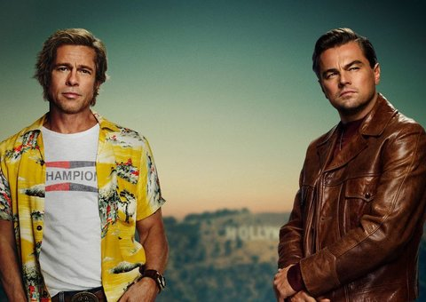 First look at Brad Pitt and Leonardo DiCaprio in Once Upon a Time in Hollywood's poster