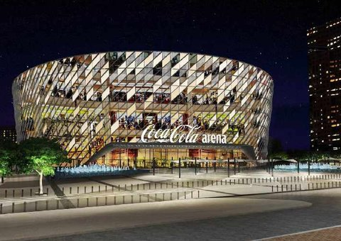 Why is the Dubai Arena now the Coca-Cola Arena?