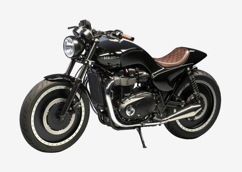 A one-of-a-kind Berluti-custom Triumph motorcycle is up for auction
