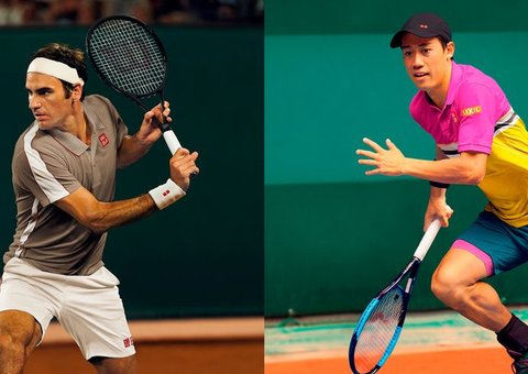 Uniqlo goes for old-school Tennis style with Roger Federer and Kei Nishikori