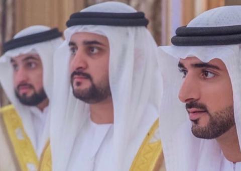 Dubai Crown Prince Sheikh Hamdan and his two brothers host wedding reception