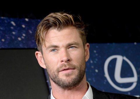 Chris Hemsworth knows how to rock a subtle power suit